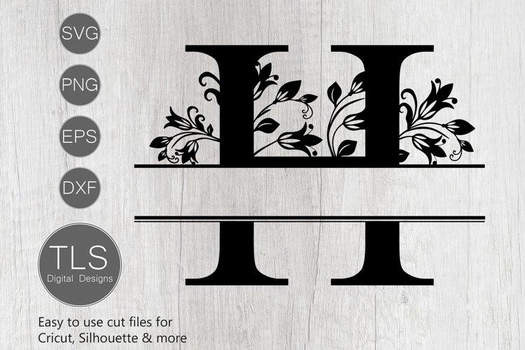 Split Monogram Letter H SVG, Letter H Monogram SVG