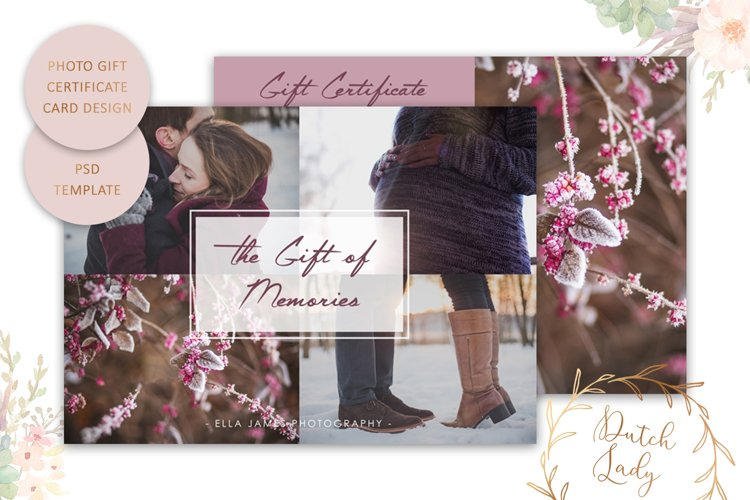Photo Gift Card Template for Adobe Photoshop - #21