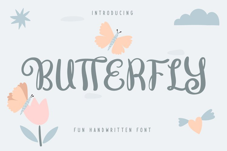Butterfly | Fun Handwritten Font example image 1