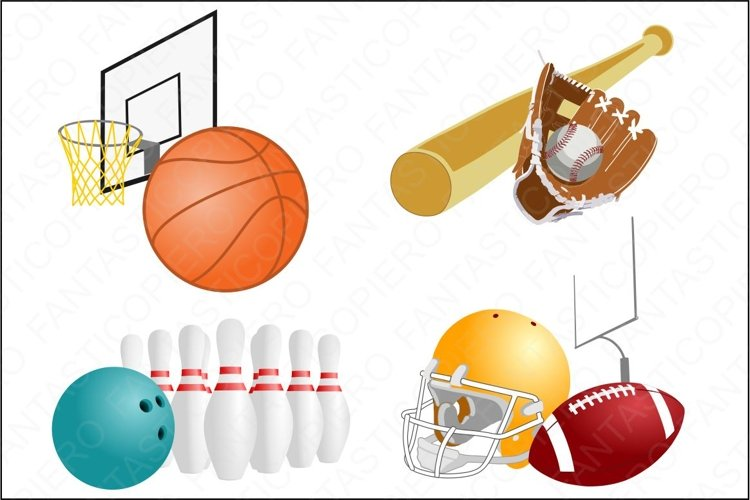 Sports clipart JPG and PNG files. example image 1