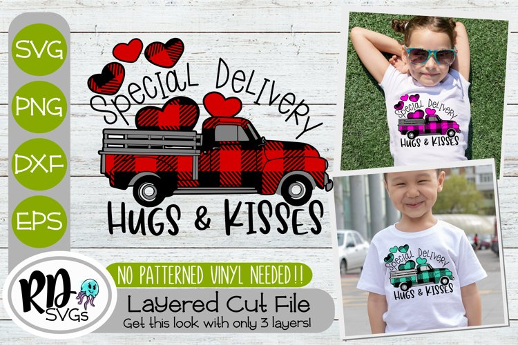 Special Delivery Farm Truck - Layered Valentines Cricut SVG