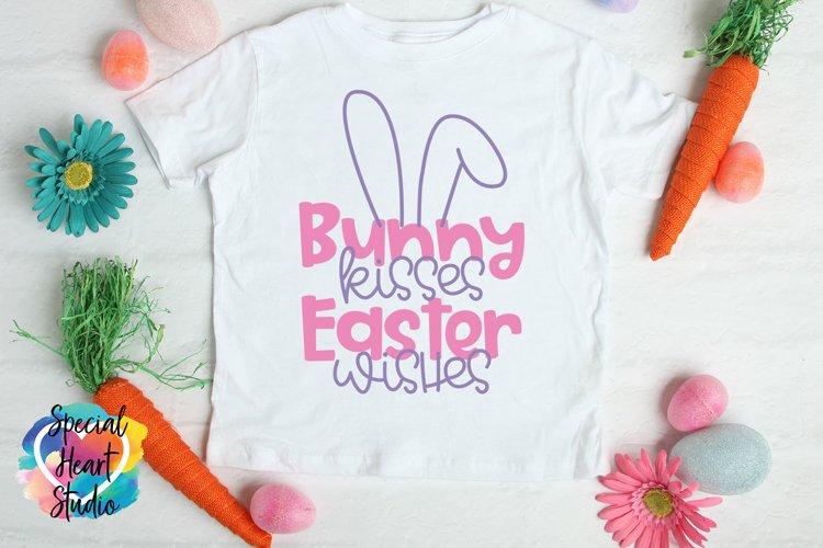 Bunny kisses Easter wishes- Easter SVG Girl Easter