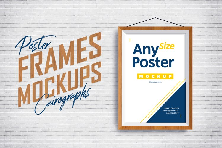Posters Frames Mockups example