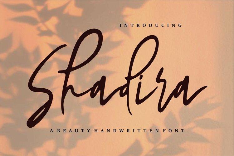 Web Font Shadira - A Beauty Handwritten Font example image 1