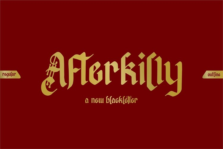 Afterkilly - New Blackletter example image 1
