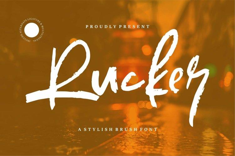 Web Font Rucker - Stylish Brush Font example image 1