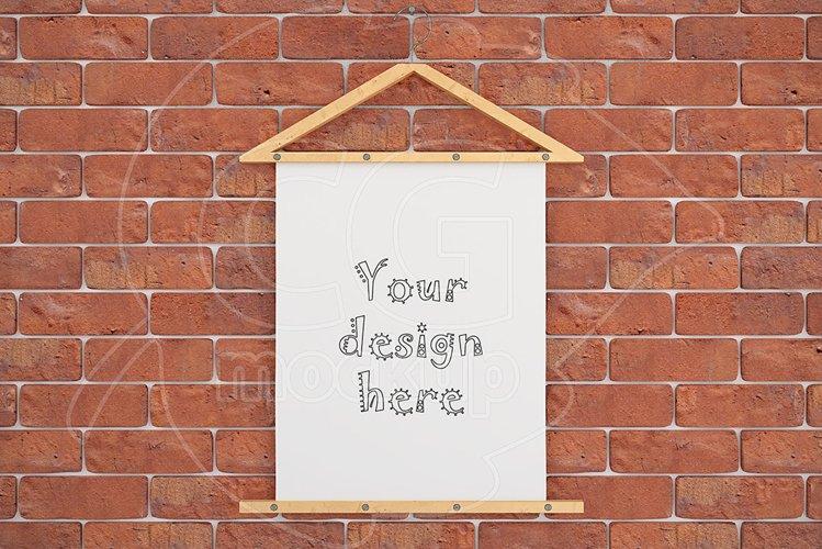 """Poster mockup 8x10"""" brick wall example image 1"""