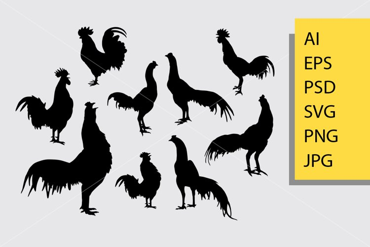 Rooster Silhouette 508256 Illustrations Design Bundles .isolated, rooster silhouette, rooster fight, farm, rooster vector, pig, vintage rooster rooster, free vector, vector logo rooster, rooster drawing, vector rooster free vector we have about (178 files) free vector in ai, eps, cdr, svg vector illustration graphic art design format. rooster silhouette