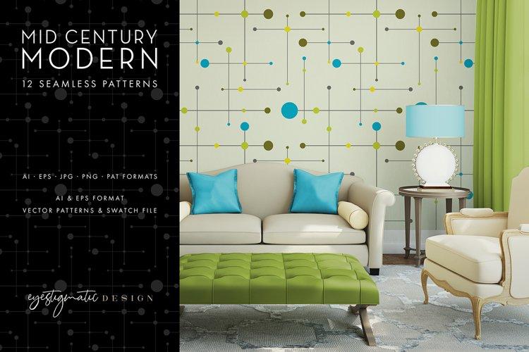 12 Seamless Mid Century Modern Patterns