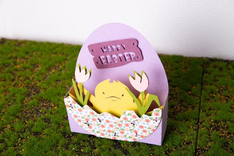 Easter 3D Scene SVG   Easter Chick SVG   Happy Easter SVG example 3