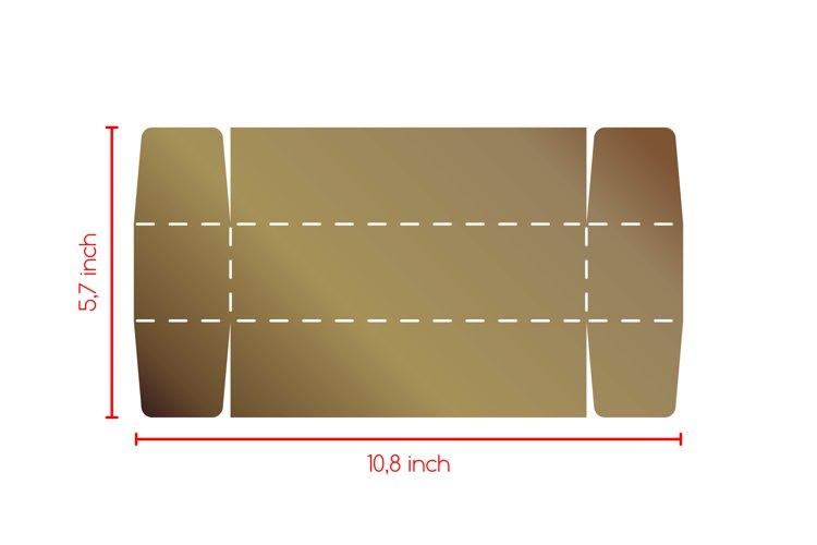 Laser paper cut scroll wedding invitation box SVG template example 1