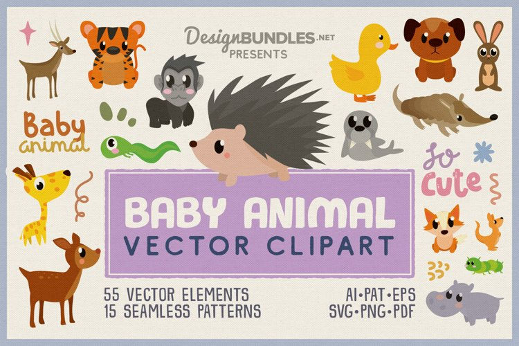 Baby Animal Vector Clipart Pack