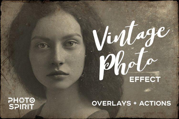 Vintage Old Photo Effect Overlays - Free Design of The Week Font