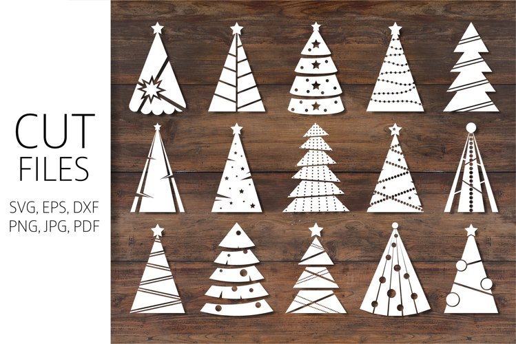 Christmas Trees Silhouette   SVG Cut File For Crafters