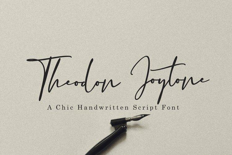 Theodon Joytone- A Handwritten Script Font