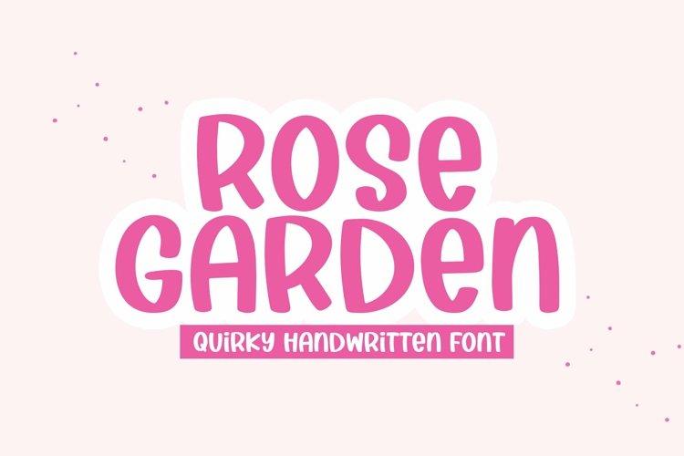 Web Font Rose Garden - A Handwritten Font example image 1