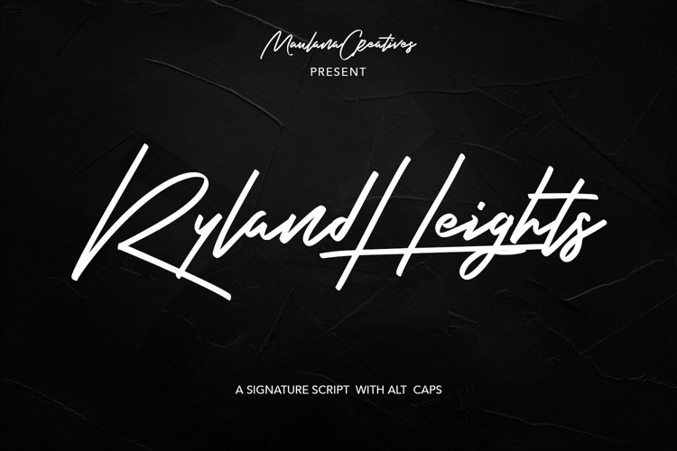 Ryland Heights Signature Script Font example image 1