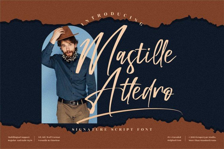 Mastille Attedro - Signature Script Font example image 1