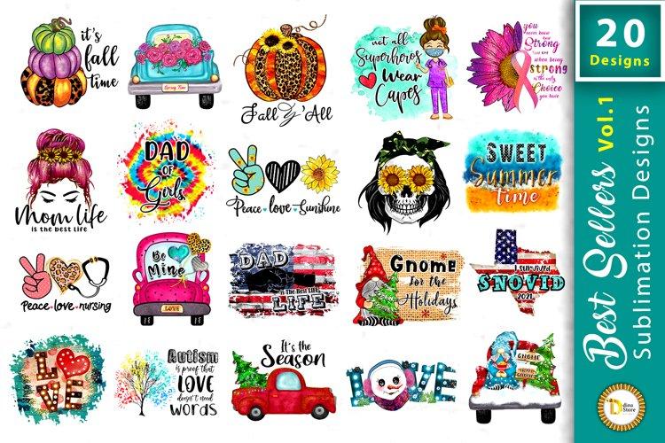 Best sellers Sublimation Various seasons Designs vol.1 example image 1