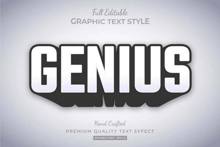 Genius Bold Shadow 3d Text Style Effect example image 1