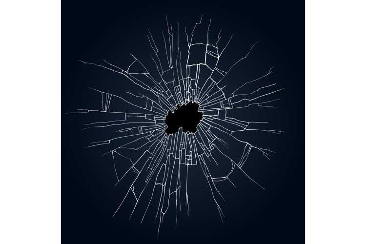 Broken glass illustration example image 1