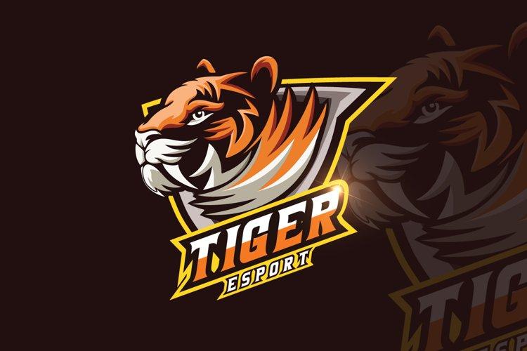 Tiger Mascot & eSports Gaming Logo example image 1