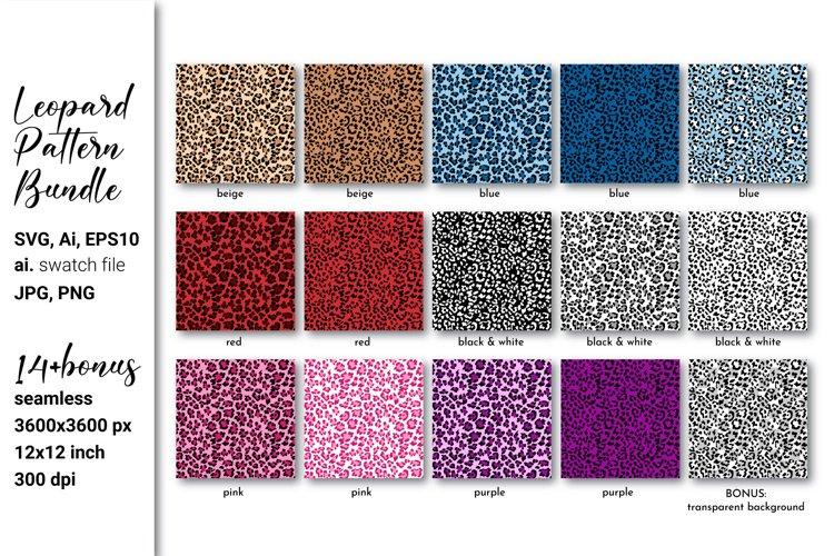 Leopard print SVG Leopard background Leopard pattern bundle