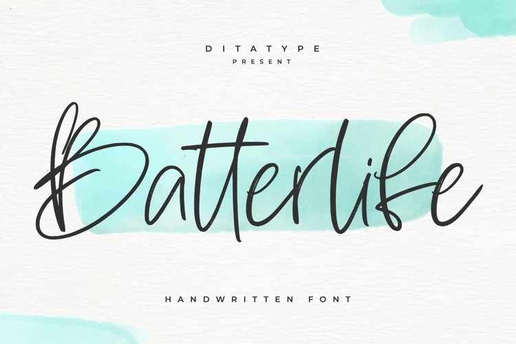 Batterlife-Lovely Handwritten example image 1