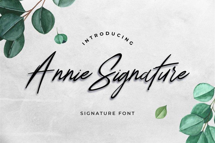 Annie Signature Font example image 1