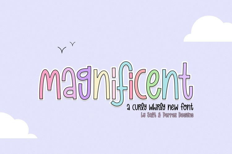 Magnificent Font Duo example image 1