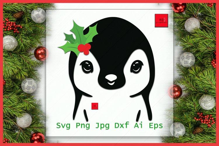 Christmas Penguin SVG, Penguin SVG, Christmas SVG, Santa Hat example image 1
