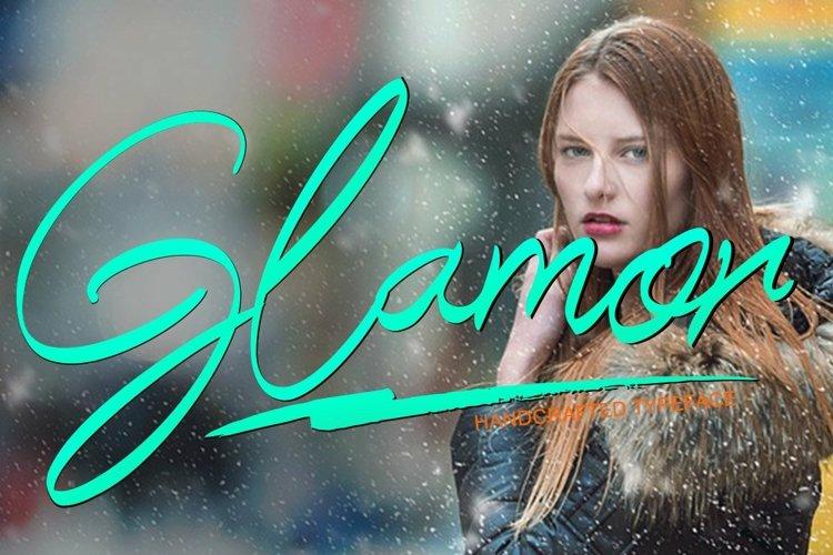Web Font Glamor example image 1