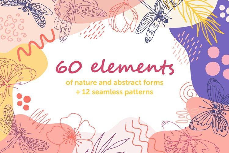 Organic natural seamless pattern set example image 1