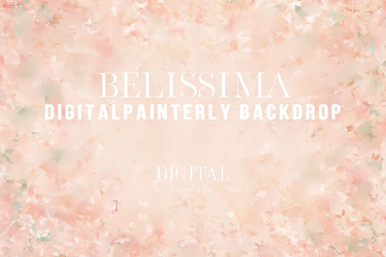 Belissima - hand painted digital background, fine art