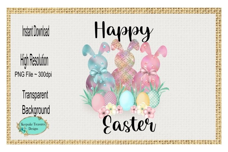 Happy Easter, Sublimation Design example image 1
