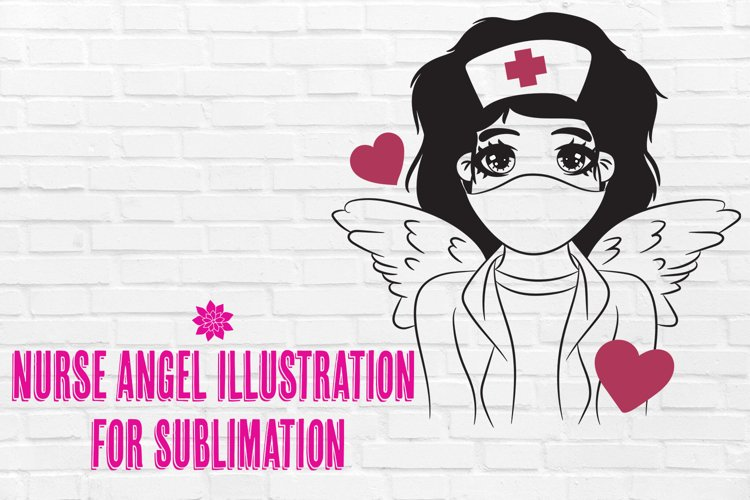 Nurse Angel For Sublimation