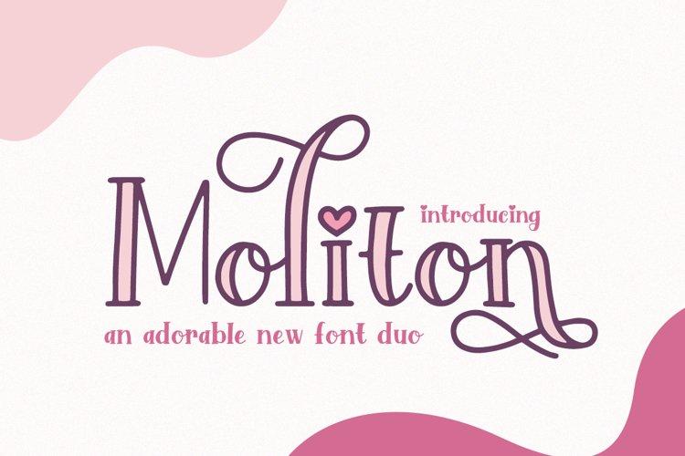Moliton Font Duo example image 1