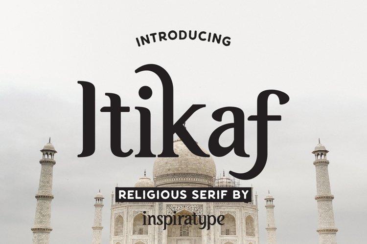 Itikaf - Religious Serif Font example image 1