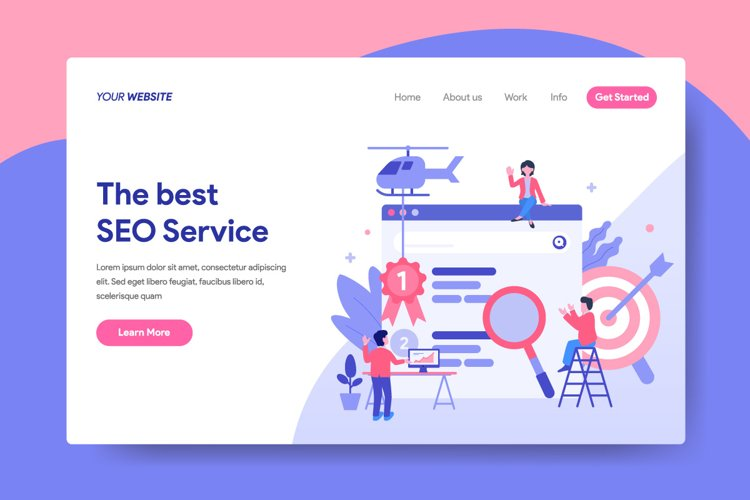 SEO Service Concept Illustration for Landing Page example image 1