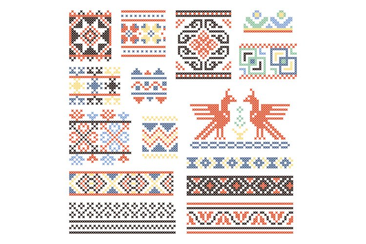Illustrations of traditional russian culture. Geometrical or example image 1