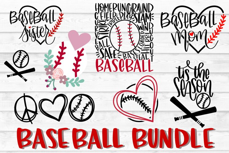 Baseball Bundle SVG, Baseball SVG, PNG, DXF, Baseball Cut