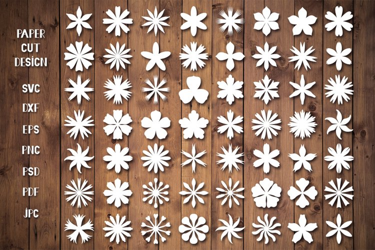 Paper Flower Templates SVG,Paper Flowers SVG,Papercut Flower