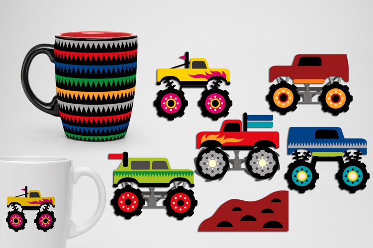 Monster trucks graphics and illustrations