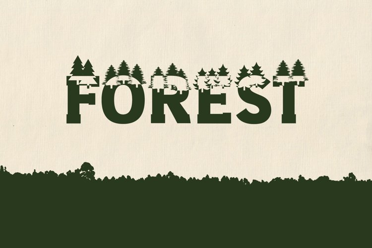 Forest Outdoors Font example image 1