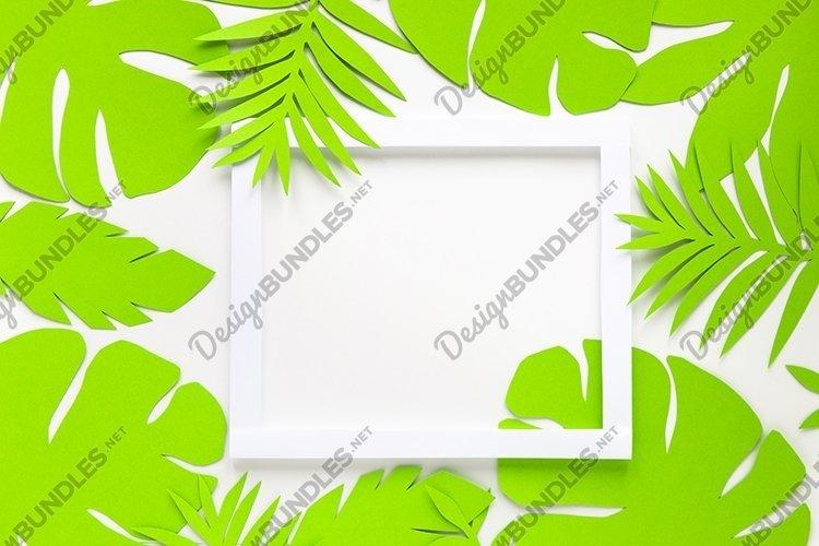 Paper art summer mockup. example image 1