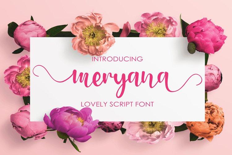 Meryana Script example image 1