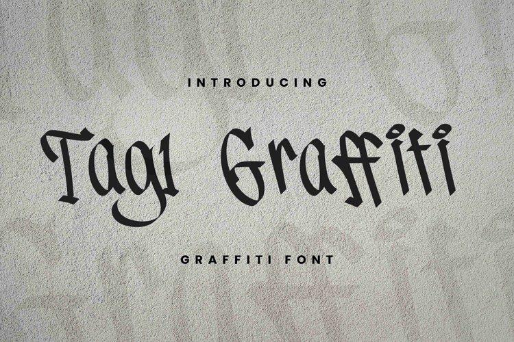 Tag1 Graffiti Font example image 1