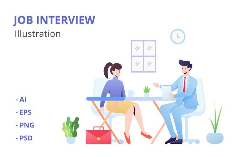 Job Interview Illustration example image 1