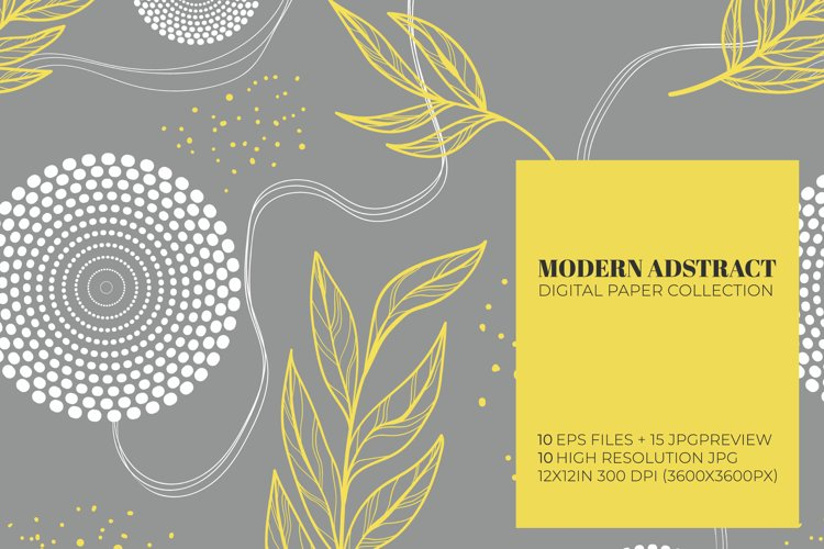 Modern abstract shapes digital papers