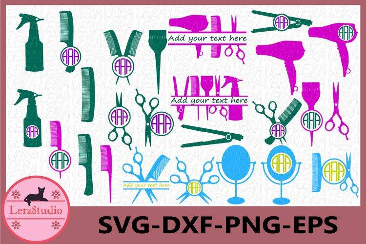 Download Hairdresser Svg Hairstylist Monogram Frame Cut Files 444533 Cut Files Design Bundles